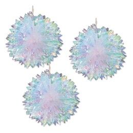 Iridescent Fluff Balls Set (set of 3)