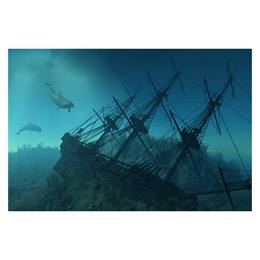 Sunken Ship Photo Mural