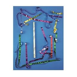 Gold Foil Confetti Wand, Multi-color Metallic Streamers