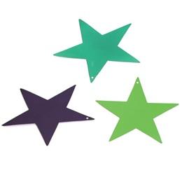9 in Foil Star 12 Pack