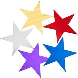 5 in Metallic Stars 12 Pack