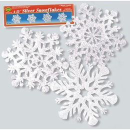 """15"""" Silver Snowflakes"""