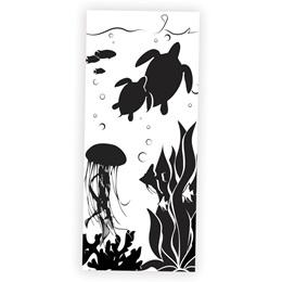 Underwater Fantasy Black and White Mural