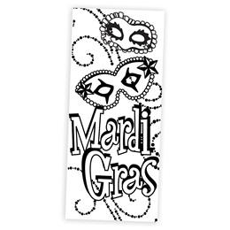 Mardi Gras Madness Black and White Mural