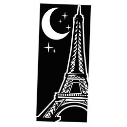 Eiffel Tower Black and White Mural