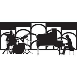 Piano Man & Drummer Mural