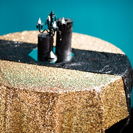 Sequin Square Table Cover - 58 in.