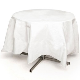 White Better Than Linen™ Octy-Round Tablecover