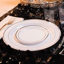 Silver Ring Dessert Plates