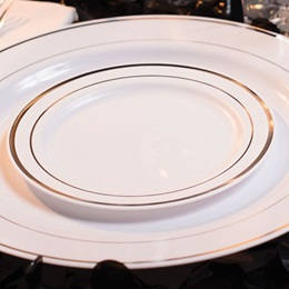 Silver Ring Luncheon Plates