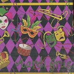 Mardi Gras Corrugated Paper
