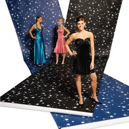 White Stars on Blue Background Paper