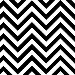 Black and White Chevron Flat Paper