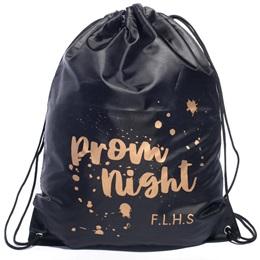 Gold Splatter Prom Night Full-color Custom Backpack