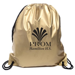 Metallic Gold Drawstring Bag