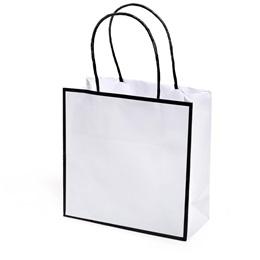Black Edged Favor Bag
