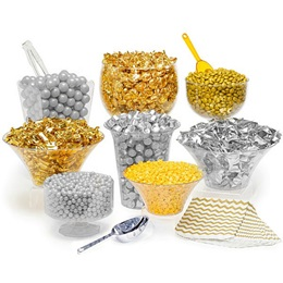 Gold/Silver Candy Buffet Kit