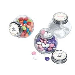 Metallic Foil Candy Jars - Gold Dots