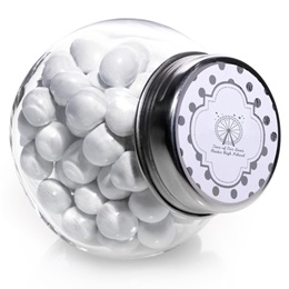 Silver Metallic Foil Candy Jars - Dots