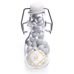 Metallic Foil Mini Glass Bottle - Moroccan