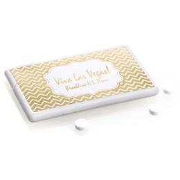 Metallic Foil Mini Mints - Gold Chevrons