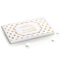 Metallic Foil Mini Mints - Gold Dots