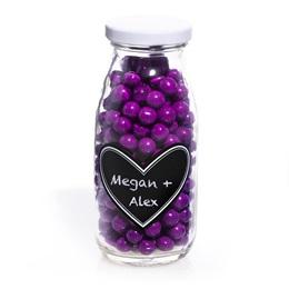 Mini Milk Bottles - Heart Chalkboard Labels