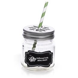 Mason Drinking Jar - Custom Chalkboard Label