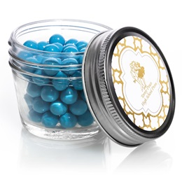 Small Mason Jar With Metallic Foil Label - Moroccan