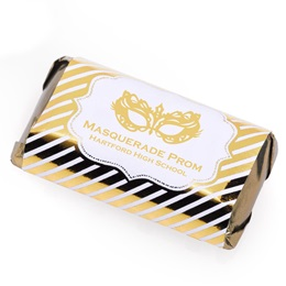 Metallic Foil Mini Candy Bar Wrapper - Gold Stripes