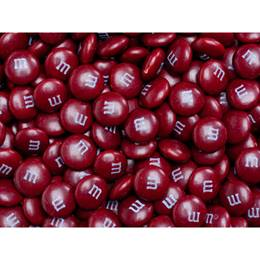 Maroon M&M's® Milk Chocolate Candy - 5 lbs.