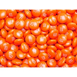 Orange M&M's® Milk Chocolate Candy - 5 lbs.