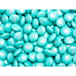 Aqua M&M's® Milk Chocolate Candy - 5 lbs.