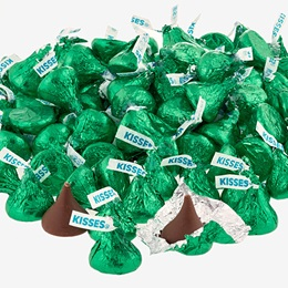 Hershey's Kisses® Chocolate Candies - Dark Green