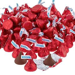 Hershey's Kisses® Chocolate Candies - Red