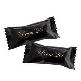 500 Black Wrapper Buttermints with Gold Prom '20