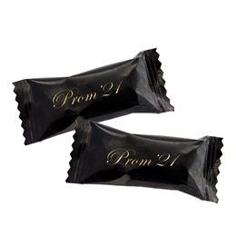 Prom '21 Butter Mints in Black Wrapper With Gold Print