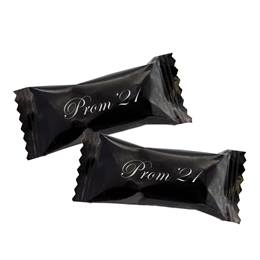 Prom '21 Butter Mints in Black Wrapper With Silver Print