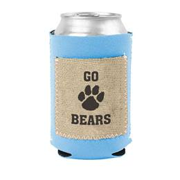 Can Cooler with Burlap Pocket