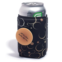 Full-color PopThirst Can Holder With PopSocket® Attachment - Abstract Bubbles