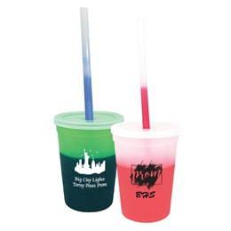 12 oz. Color-Changing Cup, Straw, and Lid