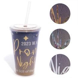 Custom Super Sparkling Tumbler - Prom Night Stars