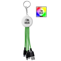 Color-Changing Key Chain Charging Cable