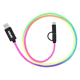 3-in-1 Rainbow Braided Charging Cable