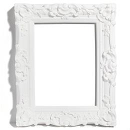 Small White Plastic Frame Photo Prop