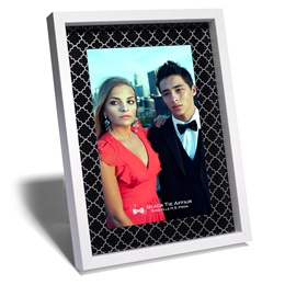 White Trellis Acrylic Frame