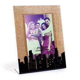 Gold Glitter Cityscape Frame