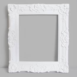 Large White Plastic Frame Photo Prop