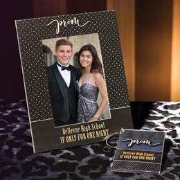 Full-color Frame and Key Chain Set - Prom Polka Dots