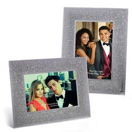 Silver Sparkle Glass Frame